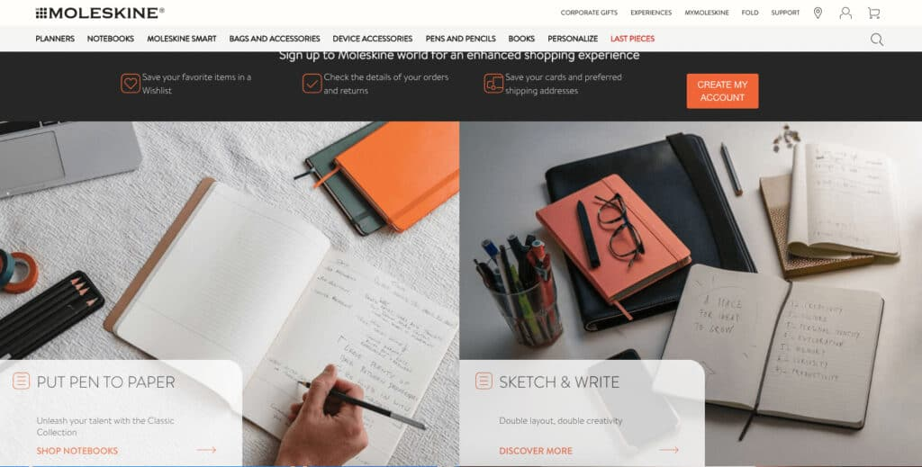 moleskine official website