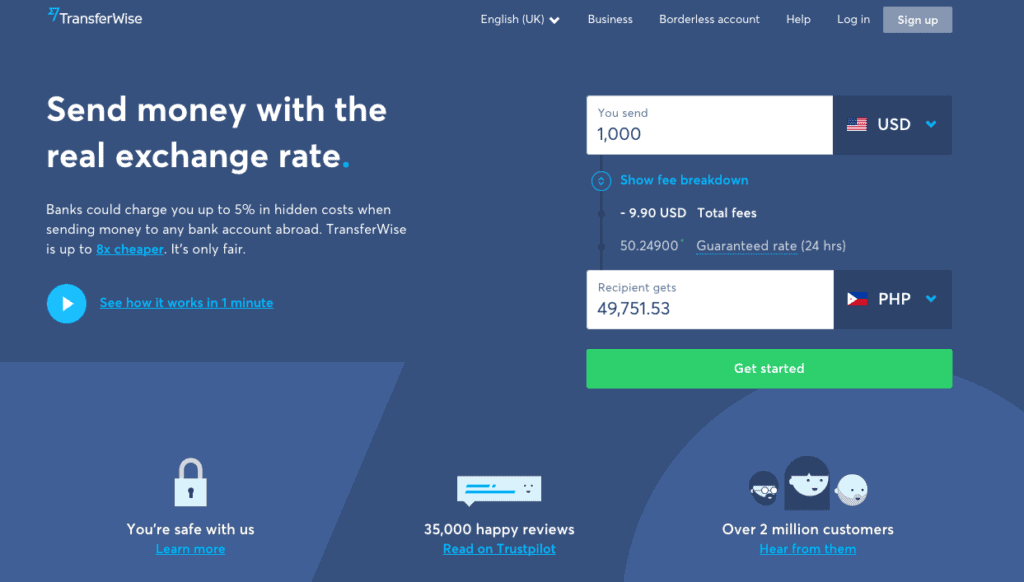The value of user research examples: TransferWise