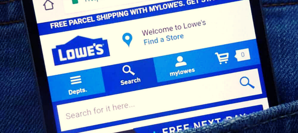 Lowes brand category page